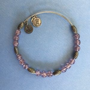 Alex and Ani Purple Bead Bracelet
